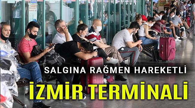 Salgına rağmen terminaller hareketli