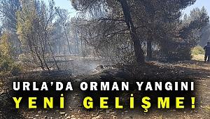 Urla'daki orman yangını ile ilgili flaş gelişme