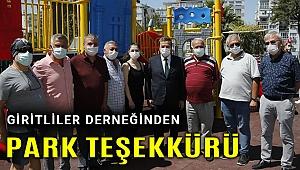 Başkan Batur'a park teşekkürü!