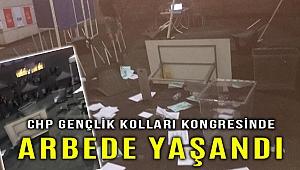 CHP İzmir Gençlik Kolları Kongresinde arbede