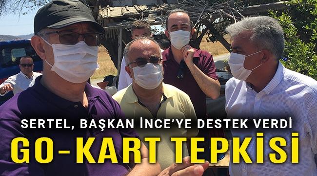 CHP'li Sertel'den Go-Kart projesine tepki, eylemcilere destek