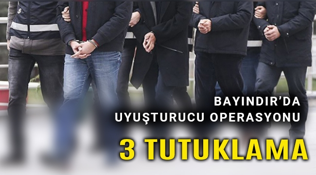 İki ayrı uyuşturucu operasyonunda 3 kişi tutuklandı