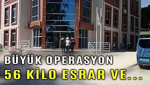 İzmir'de büyük uyuşturucu operasyonu... Tam 56 kilo...