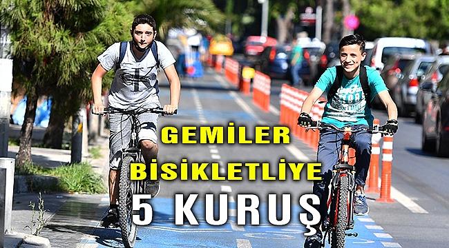 İzmir'de gemiler bisikletliye sadece 5 kuruş