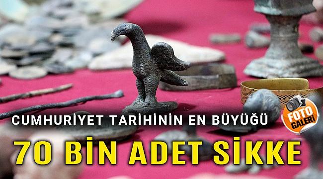 İzmir'de Lidya dönemine ait sikkeler ele geçirildi