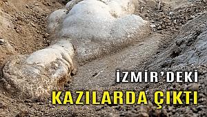 İzmir'de mitolojik varlık Satyros'un kabartması bulundu