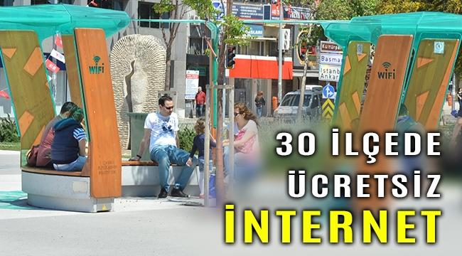 İzmir'de ücretsiz ve kablosuz internet artık 30 ilçede