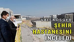 İzmir Valisi Köşger, Bayraklı Şehir Hastanesi inşaatını inceledi