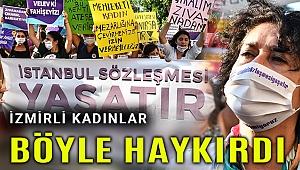 İzmirli kadınlardan hükümete İstanbul Sözleşmesi çağrısı
