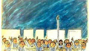 Karikatürist Ömer Çam'dan, Başkan Gümrükçü'ye anlamlı jest