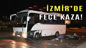 Karşıyaka'da minibüse çarpan motosikletin sürücüsü öldü