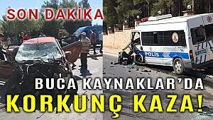Kaynaklar'da korkunç kaza; polis aracı, otomobil, beton mikseri...