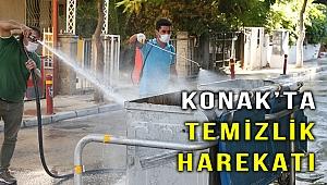 Konak'da dip-köşe temizlik