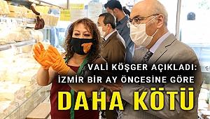 Kovid denetimine çıkan İzmir Valisi Köşger son durumu açıkladı