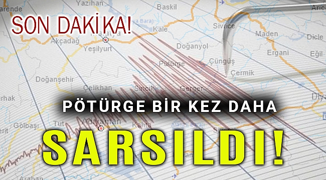 Malatya yine depremle sarsıldı: 5.2
