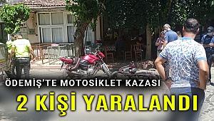 Ödemiş'te motosikletler çarpıştı: 2 yaralı