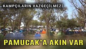 Pamucak'ın yüzünü kampçılar güldürdü