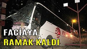 Yolcu otobüsü şarampole yuvarlandı; 30 yaralı