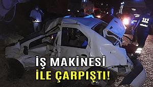 Zincirleme kazada otomobil bu hale geldi!
