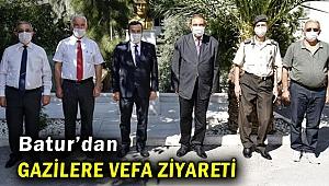 Başkan Batur'dan gazilere vefa ziyareti