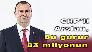 CHP'li Arslan'dan 9 Eylül Mesajı! Bu gurur 83 milyonun!