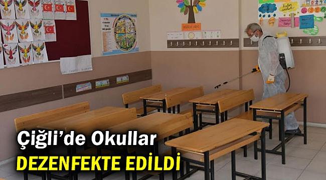 Çiğli Belediyesi tarafından Okullar Dezenfekte Edildi
