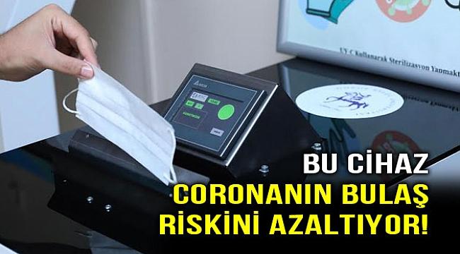 Coronanın bulaşma riskini azaltan cihaz!