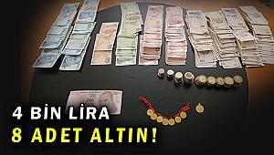 Dilencinin üzerinden 8 altın ve 4 bin lira çıktı!