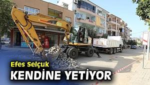 Efes Selçuk'un sokakları belediyenin öz kaynaklarıyla yenileniyor