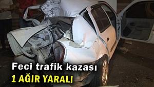 Feci trafik kazası:1 ağır yaralı