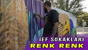 """İEF'de duvarlar """"Akdeniz Gibi Yaşam Dolu ve Çok Renkli"""""""