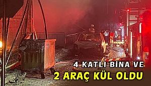 İzmir'de 4 katlı apartmanda çıkan yangında kül oldu