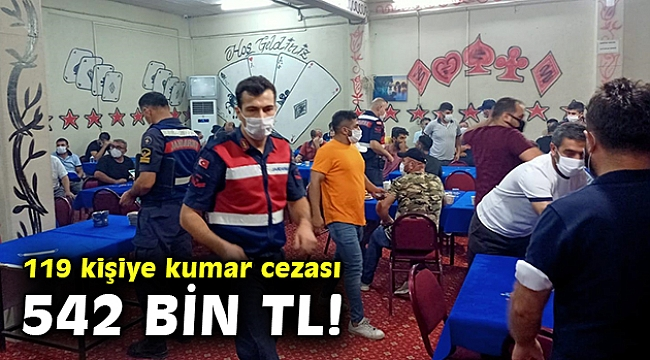 İzmir'de kumar oynayan 119 kişiye, 542 bin 878 lira ceza