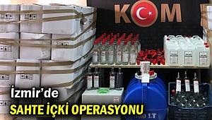 İzmir'de sahte içki operasyonunda 3 gözaltı