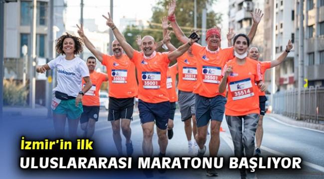 İzmir'in ilk uluslararası maratonu başlıyor