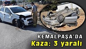 İzmir Kemalpaşa'da kaza: 3 Yaralı