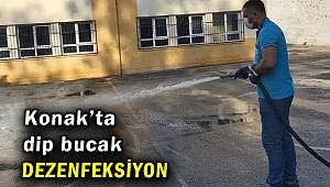 Konak'taki okullara dip bucak dezenfeksiyon