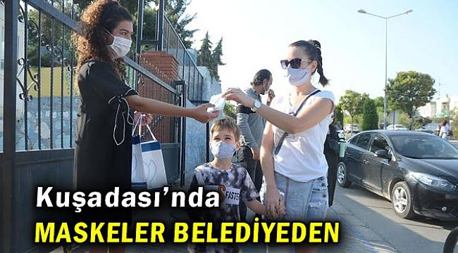 Kuşadası'ndaki okulların maske ihtiyacı karşılanıyor
