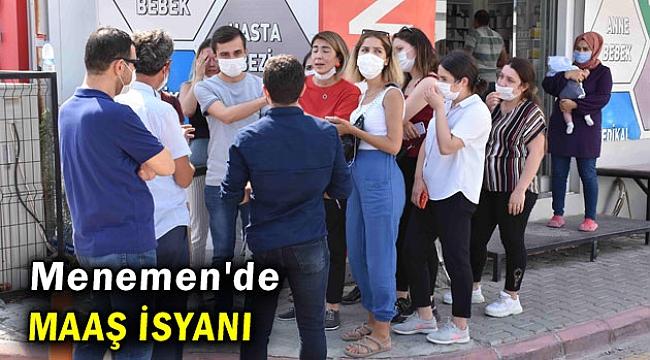 Menemen'de Özel Hastane'nin eski çalışanlarının maaş isyanı