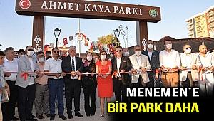 Menemen'e Ahmet Kaya parkı