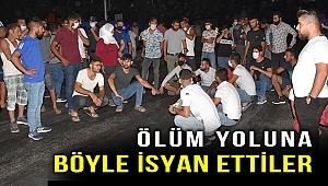 Ölüm yoluna isyan! Mahalleli İzmir-Aydın yolunu trafiğe kapattı