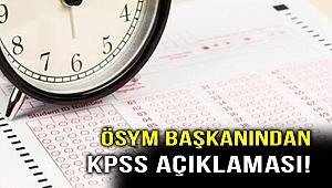 ÖSYM Başkanından KPSS açıklaması! HES kodlarına dikkat