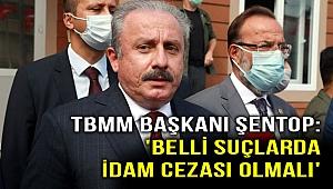 TBMM Başkanı Şentop'tab flaş idam cezası açıklaması!