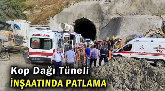 Tünel inşaatında patlama