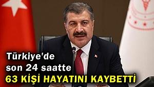 Türkiye'de son 24 saatte 63 kişi hayatını kaybetti