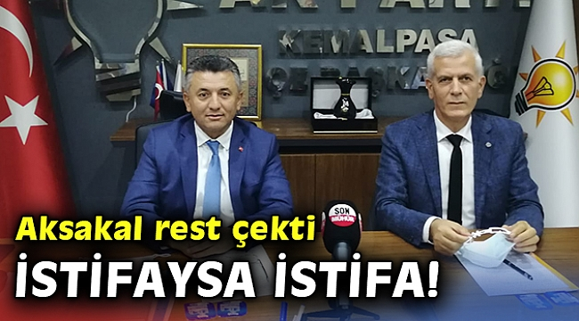 Ak Parti Kemalpaşa'dan bir kez daha istifa resti!