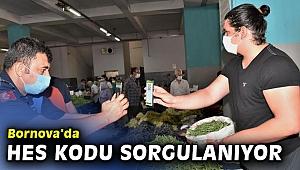 Bornova pazarlarında koronavirüs tedbirleri