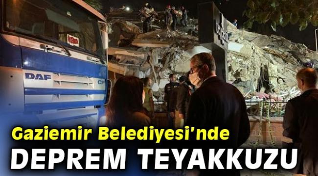 Gaziemir Belediyesi deprem teyakkuzunda
