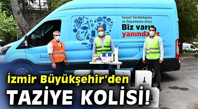 İzmir Büyükşehir Belediyesi, taziye kolisi dağıtmaya başlıyor