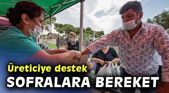 İzmir Büyükşehir'den üreticiye destek sofralara bereket